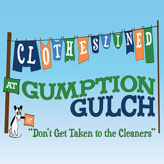 Picture of Clotheslined At Gumption Gulch cover art.