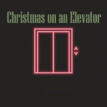Picture of Christmas on an Elevator